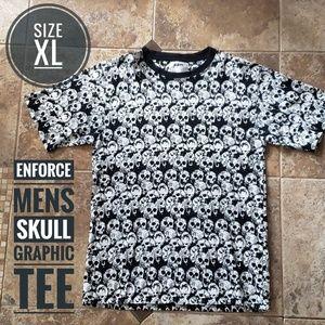 MENS Enforce Skull Graphic Tee